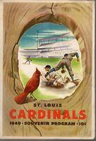 1949 MLB Baseball Program New York Giants @ St. Louis Cardinals, unscored~ Gd