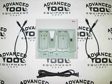 Leica GKL221 Charger Charging Station TWO GDI222 for GEB111 & GEB121 Batteries