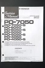 PIONEER PD-7050/6050/5050/4050 Service-Manual/Anleitung/Schaltplan! o16