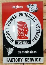 Antique Vintage Lauson Engine Tin Sign Hit Miss