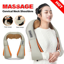 Vibrator Back Neck Massager Body Leg Arm Shiatsu Car Deep Knead Shoulder Wrap