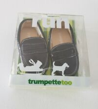 Trumpette Too Toddler Boys Black Loafers Shoes Size 6-12 Months