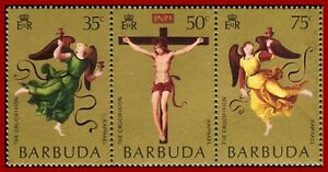 Barbuda 1971 ART, Easter, paintings by Raphael, Sc 92-94, YT 91-93, SG 91-93