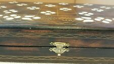 Wood Backgammon and Chess Board Inlaid wth %100 natural Mother of Pearl handmade