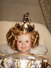 """DANBURY MINT 1993 SHIRLEY TEMPLE PORCELAIN DOLL """"LITTLE PRINCESS"""" 17"""""""