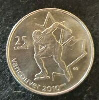 2009 Canada 25 Cent Vancouver 2010 Olympics Speed Skating Circulated