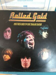 Rolling Stones Rolled Gold BLUE DECCA ROST 1/2 Double Vinyl Album Gigs 1963-1968