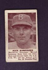 1941 Double Play ALEX KAMPOURIS #13 Single Cut