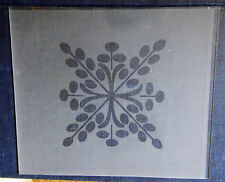 Etched Snowflake Pattern Lower Glass, Steeple or Beehive Clock Size