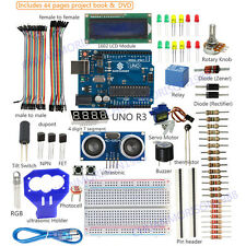 SunFounder Uno R3 Lcd Relay Electronic Sensor Ultrasonic Kit For Arduino &Holder