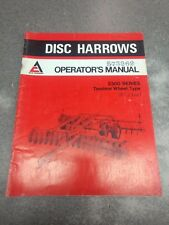 Allis Chalmers 2300 Series Disc Harrows Operators Manual 70573261