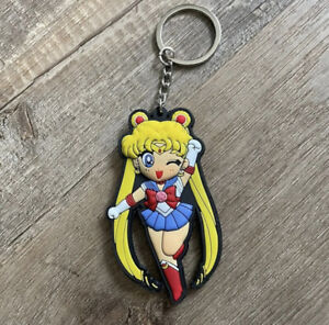 Sailor Moon Anime Chibi Keychain Double Sided Rubber