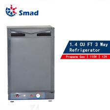 3 Way 1.4 CU FT Propane Refrigerator Fridge12V 110V LP Gas Camper RV Van Travel