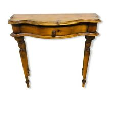 Vintage Wood Half Moon Shaped Hall Console Table Beautiful shape VGC with Drawer