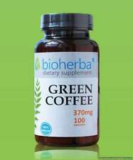 GREEN COFFEE BEANS 370mg x 100caps, Herbal Supplement BIO FREE P&P