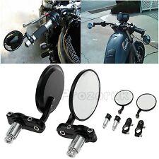 "Universal Motorbike 7/8"" Bar End Rearview Mirrors Pair Motorcycle/Bike 360Degree"
