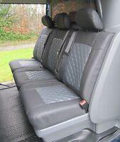 Opel Vivaro (2014-Present) Crew Cab 6 Seater Van Seat Covers-Diamond stitched