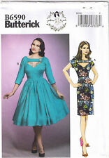 70a4e1cff9 Fitted Straight Flared Dress Front Opening Sewing Pattern Gertie 14 16 18  20 22