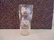 """Vintage Stagecoach Themed Collectible Novelty Glass """" BEAUTIFUL COLLECTIBLE ITEM"""