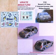 DECALS 1//24 REF 364 RENAULT 5 GT TURBO BUGALSKI RALLYE DE TOURAINE 1987 RALLY