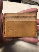 Handmade Beije Soft Leather Cardholder Id Wallet.