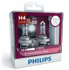 1 x PAIR Philips H4 Headlight Globes X-treme Vision Plus 130% 12342XVPS2