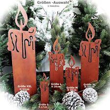 Rost Kerze Edelrost Garten Deko - Weihnachten Advent Metall Kerzen Herbst Winter