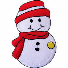 Christmas Snowman Embroidered Iron Sew on Patch Xmas Decoration Embroidery Badge