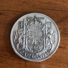 1940 Canada Silver Half Dollar 50 Cents