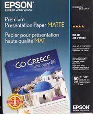 Epson - S041468 - Premium Matte Presentation Paper, 45 lbs 11 x 14, 50 Sheets