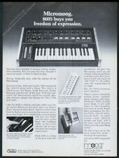 1977 Moog MicroMoog Micro synth synthesizer photo vintage print ad