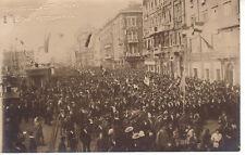 FIUME D'ITALIA ANNESSIONE 30 OTTOBRE 1918 FOTOGRAFIA VINTAGE COMANDO D'ANNUNZIO