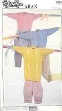 Knitting Pattern Peter Pan Child's Aran Sweater & Cardigan 41 - 66cm