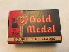 Gold Medal Vintage Double Edge Blades Box With 19 Vintage Blades