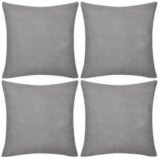 vidaXL 4x Cushion Covers Cotton 80x80cm Grey Sofa Protect Throw Pillow Case