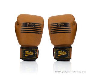FAIRTEX BOXING GLOVES BGV21 BROWN LEGACY LIMITED EDITION MUAY THAI MMA BY DHL