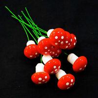 kit 10x funghi funghetti decorativi ornamento giardino terrazzo vaso piante