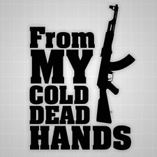 From myCold Dead hands decal stickers,2nd amendment AK47 stickers,gun rights