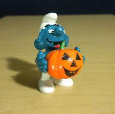 Smurfs Halloween Pumpkin Smurf Vintage PVC Figure Toy Figurine Schlumpf 20136