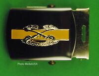 Combat Cavalry Crossed Sabers khaki tan Belt & Brass Buckle