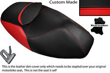 RED & BLACK CUSTOM FITS APRILIA ATLANTIC 125 250 DUAL LEATHER SEAT COVER ONLY