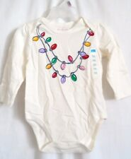 GIRLS 9-12 MONTH MILK SPARKLE BULB NECKLACE CREEPER NWT THE CHILDREN'S PLACE