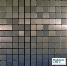 FlexiPixTile-Aluminum Peel & Stick Mosaic Tile Kitchen Backsplash Bath - Frozen
