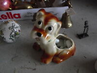 Vintage Puppy Dog Figural Planter LOOK