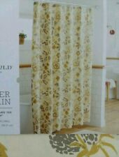 """Threshold Gray / Yellow Fall Floral Shower Curtain ~ Yellow Neutral ~ 72""""x72"""""""