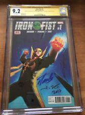 Signed Stan Lee Iron Fist 1 CGC 4X SS 9.2 Perkins Brisson Dekal & Stan Lee ss