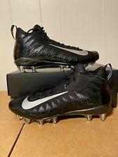 New listing Nike Alpha Menace Raiders Pro Mid Football Cleats Mens Sz 13 Black 880410-010