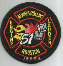 "Houston Station - 51 ""Always Rollin"", TX (3.5"" round size) fire patch"