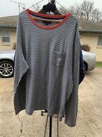Mens Ralph Lauren Polo Striped Long Sleeve Polo Shirt Size 2XL