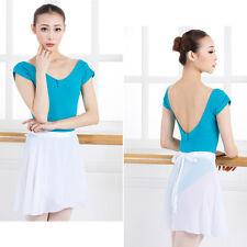 Adult Women LadyChiffon Ballet Leotard Tutu Wrap Scarf Skirt Dance Dress 4 J5X8